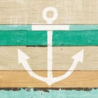 Beachscape III Anchor Green Fine Art Print