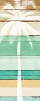 Beachscape Palms V Green Framed Print