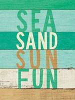 Beachscape Inspiration VIII Greeb Framed Print