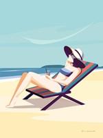 South Beach Sunbather II Framed Print