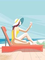 South Beach Sunbather I Framed Print