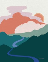 Hills and Valleys I Light Fine Art Print