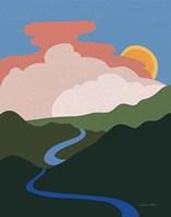 Hills and Valleys I Fine Art Print
