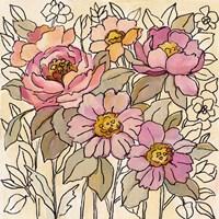 Spring Lace Floral I Framed Print