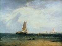 Fishing upon the Blythe Sand, Tide Setting In, 1809 Fine Art Print