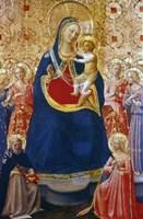 Madonna and Child with Saints, Mid 15th Century Fine Art Print