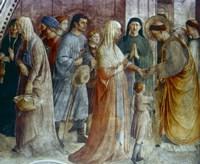 St Stephen Distributing Alms, Mid 15th Century Fine Art Print