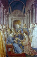 St Sixtus II and his Deacon St Laurence, Mid 15th Century Fine Art Print