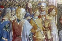 St Laurence before Deciuss tribunal (detail), Mid 15th Century Fine Art Print