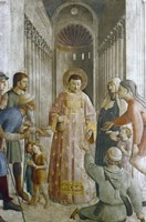 St Laurence Giving Alms to the Poor, Mid 15th Century Fine Art Print