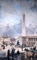 Obelisk of Luxor and the Place de la Concorde, 1891 Fine Art Print