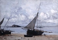 Beached Boats at St Jean, 1884 Fine Art Print