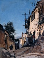 The Old Town Below the Cemetery, Menton, 1890 Fine Art Print