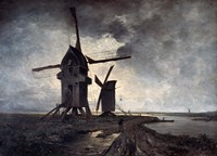 Windmills of the Surrounding Landscape of Lille, 1877 Fine Art Print