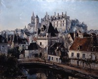 The Port of Cordelieres and Castle Loches, 1891 Fine Art Print