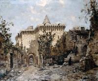 The Door of Cordelieres and the Castle, 1891 Fine Art Print