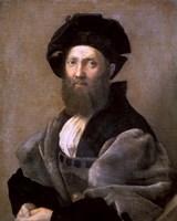 Portrait of Baldassare Castiglione, 1514-1515 Fine Art Print