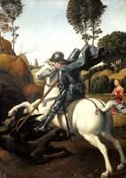 Saint George and the Dragon, c1506 Fine Art Print