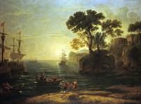 Arrival of Aeneas in Italy (c1620-1680) Fine Art Print