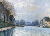 View of the Canal Saint-Martin, Paris, 1870 Fine Art Print