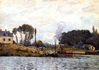 Boats on the Canal, 1873 Fine Art Print