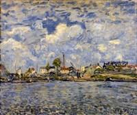 The Seine at Point du Jour, 1877 Fine Art Print