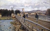 Foot Bridge at Argenteuil, 1872 Fine Art Print