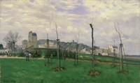 View of Montmartre from the Cite des Fleurs, 1869 Fine Art Print