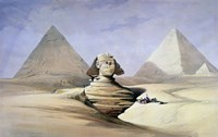 The Great Sphinx and Pyramids at Giza, 1838-1839 Fine Art Print