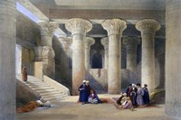 Interior of the Temple at Esna, Upper Egypt, 1838 Fine Art Print