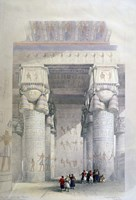 Portico of the Temple of Dendera, 19th century Fine Art Print
