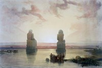 The Colossi of Memnon, at Thebes, during the Inundation, 19th century Fine Art Print