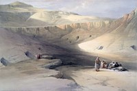 Entrance to the Tombs of the kings of Thebes, Bab-el-Malouk, 19th century Fine Art Print