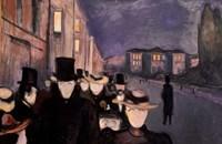 Evening on Karl Johan, 1892 Fine Art Print