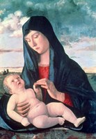 Madonna and Child in a Landscape, c1480-1485 Fine Art Print