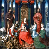 Triptych of St John the Baptist and St John the Evangelist, 1479 Fine Art Print