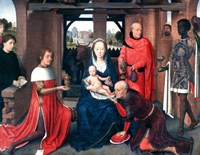 Adoration of the Magi, Triptych, Central Panel, c1453-1494 Fine Art Print
