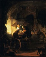 Tobias Returns Sight to His Father, 1636 Fine Art Print