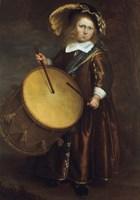 Boy with Drum, 17th century Fine Art Print