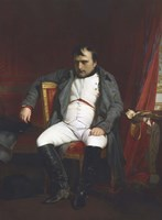 Napoleon at Fontainebleau, (1845) Fine Art Print