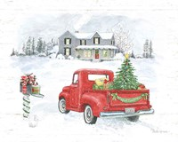 Farmhouse Holidays VI Truck Framed Print