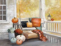 October Porch Framed Print