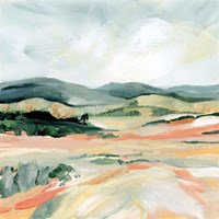 Vermillion Landscape I Fine Art Print