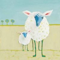 Colorful Sheep Fine Art Print