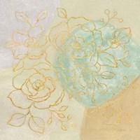 Mid Mod Sophisticated Floral II Framed Print
