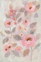 Expressive Pink Flowers II Framed Print