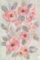 Expressive Pink Flowers I Framed Print