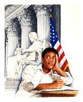 1950's Desegregation of Public Schools Fine Art Print