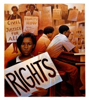 1960 Lunch Counter Sit-ins Fine Art Print