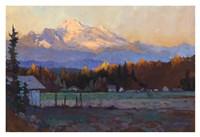Late October Light Mt. Baker Fine Art Print